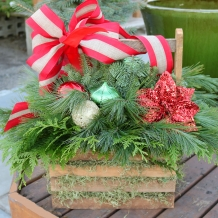 Outdoor Holiday Baskets