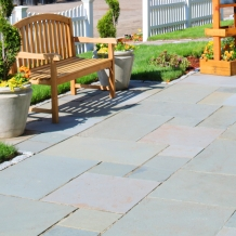 Thermal Bluestone patio installed over a sand base